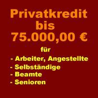 Privatkredit bis 75.000 € von Privat auch für Selbständige - Anmeldung kostenlos