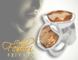 Privato Bead Amber Earth 925 Sterling Silber, Zirkonia