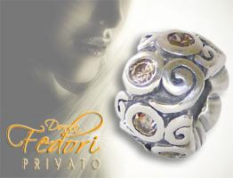 Privato Bead Amber Ornament 925 Sterling Silber, Zirkonia