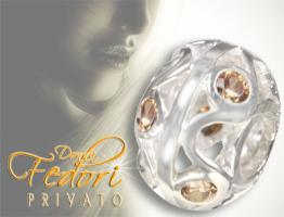 Privato Bead Champagner Waves 925 Sterling Silber, Zirkonia
