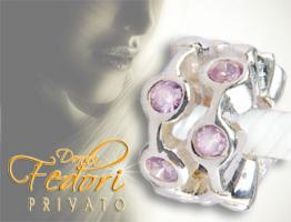 Privato Bead Cleo Rose 925 Sterling Silber, Zirkonia