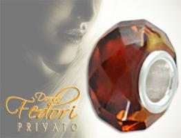 Privato Bead Facing Amber 925 Sterling Silber, Bernstein