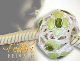 Privato Bead Filigrane Frühlingsblüte 925 Sterling Silber, Emaille
