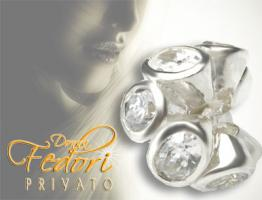 Privato Bead Forever white 925 Sterling Silber, Zirkonia