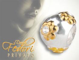 Privato Bead Goldblüte 925 Sterling Silber, Zikonia