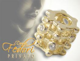 Privato Bead Golden Fantasia 925 Sterling Silber 18k vergoldet, Zirkonia