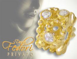 Privato Bead Goldenes Geheimnis 925 Sterling Silber 18k vergoldet, Zirkonia