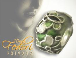 Privato Bead Green Libella 925 Sterling Silber, Emaille
