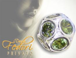 Privato Bead Green Passion 925 Sterling Silber, Zirkonia