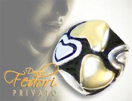 Privato Bead Herz aus Gold 925 Sterling Silber