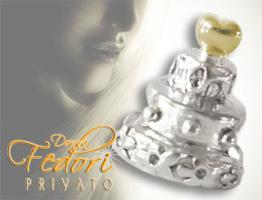 Privato Bead Hochzeitstorte 925 Sterling Silber