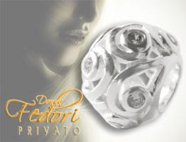 Privato Bead Lines & Diams 925 Sterling Silber, Zirkonia