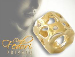 Privato Bead Love Letters 925 Sterling Silber 18k vergoldet, Zirkonia