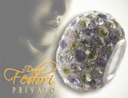 Privato Bead Mixed Lilac Glamour 925 Sterling Silber, Swarovski Kristalle