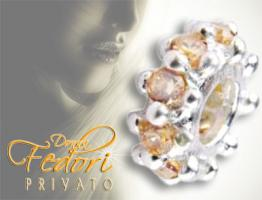 Privato Bead Nice Champagne 925 Sterling Silber, Zirkonia