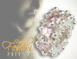 Privato Bead Precious Rose 925 Sterling Silber, Zirkonia