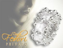 Privato Bead Precious white 925 Sterling Silber, Zirkonia