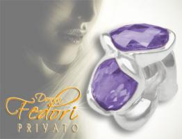 Privato Bead Purple Summer 925 Sterling Silber, Zirkonia