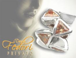 Privato Bead Sparkling champagne Delta 925 Sterling Silber, Zirkonia