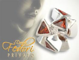 Privato Bead Sparkling red Delta 925 Sterling Silber, Zirkonia