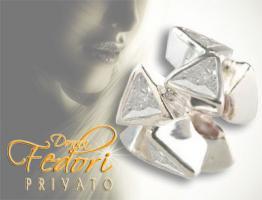 Privato Bead Sparkling white Delta 925 Sterling Silber, Zirkonia