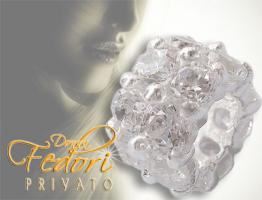 Privato Bead Sparkling white Fire 925 Sterling Silber, Zirkonia