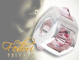Privato Bead Triangel Kristall rosa 925 Sterling Silber