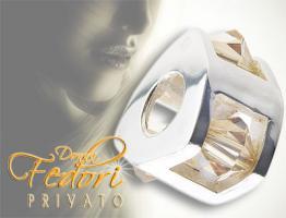 Privato Bead Triangel champagne 925 Sterling Silber, Zirkonia