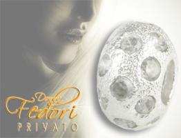 Privato Bead White Universe 925 Sterling Silber, Zirkonia