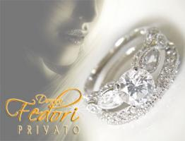 Privato Design Duo-Ringe Sparkling Fairy 925 Sterling Silber, Zirkonia D 54 - 17,3 (USA 7)