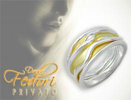 Privato Design Ring Golden Dune 925 Sterling Silber, 18k vergoldet D 52 - 16,5 (USA 6)
