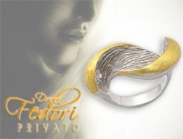Privato Design Ring Golden Wings 925 Sterling Silber, 14k vergoldet D 57 - 18,3 (USA 8)