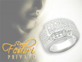 Privato Design Ring Pure Glamour 925 Sterling Silber, Zirkonia D 54 - 17,3 (USA 7)