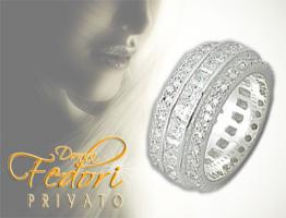 Privato Design Ring Sparkling Diamond 925 Sterling Silber, Zirkonia D 54 - 17,3 (USA 7)