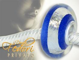 Privato Glasbead Blue Secret 925 Sterling Silber
