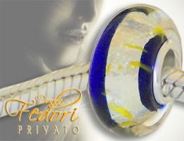 Privato Glasbead Dark blue Secret 925 Sterling Silber
