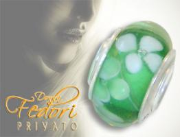 Privato Glasbead Fr�hlingswiese 925 Sterling Silber