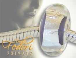 Privato Glasbead Lilac Secret 925 Sterling Silber