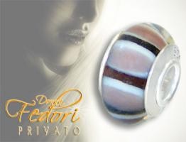 Privato Glasbead Mouvada 925 Sterling Silber