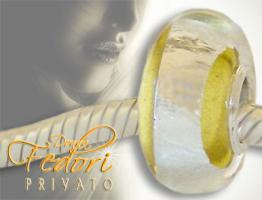 Privato Glasbead Yellow Secret 925 Sterling Silber