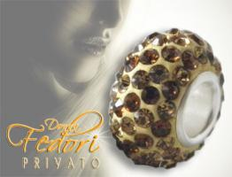Privato Glitzerbead Candy Mixed Glamour 925 Sterling Silber, Swarovski Kristalle