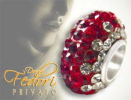 Privato Glitzerbead Cherry Mixed Glamour 925 Sterling Silber, Swarovski Kristalle