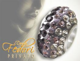 Privato Glitzerbead Purple Mixed Glamour 925 Sterling Silber, Swarovski Kristalle