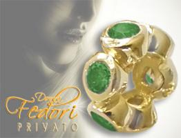 Privato Spacer Green Brightness 925 Sterling Silber 18k vergoldet, Zirkonia