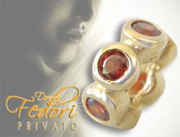 Privato Spacer Red Brightness 925 Sterling Silber 18k vergoldet, Zirkonia