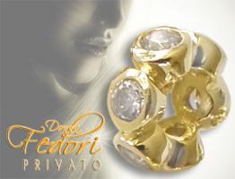 Privato Spacer White Brightness 925 Sterling Silber 18k vergoldet, Zirkonia