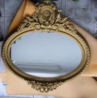 Prunkspiegel um 1900 - reich verziert