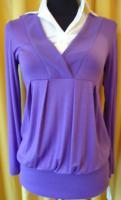 Pulli und Blusen in einem, lila, EINHEITSGRÖßE passend 34-40 -NEU- mit Etikett
