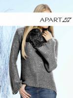 Pullover mit Pailletten grau-silber von APART Gr. 32 - OVP - NEU