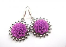 ' Purple Flower ' Ohrringe
